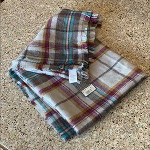 Eddie Bauer Plaid Scarf Blanket